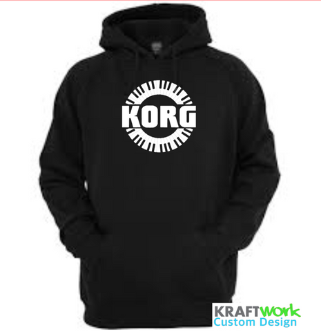 KORG Synthesizer Hoodie - Custom Print KORG Synth Hoodie with Piano Roll Classic KORG Synth Design