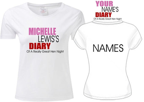 Bridget Jones Diary -  Hen Do T-Shirt S - XXL