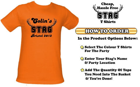 Basic Stag horns Stag Do T-Shirt