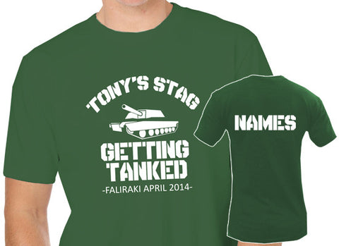 Getting Tanked Stag Do T-Shirt