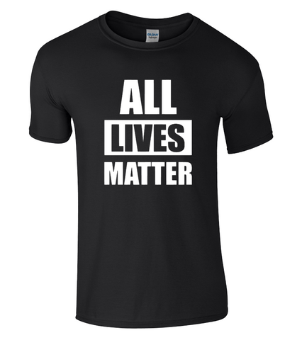 ALL Lives Matter T-Shirt Anti Racism BLM Protest Unisex Tee, I Can't Breathe NEW