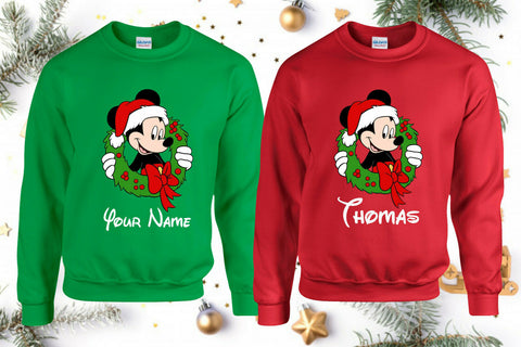 Personalised Disney themed Christmas Jumper / Sweatshirt