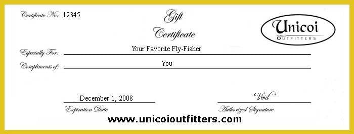 Unguided Nacoochee Bend Trophy Trout Fishing Gift Certificates