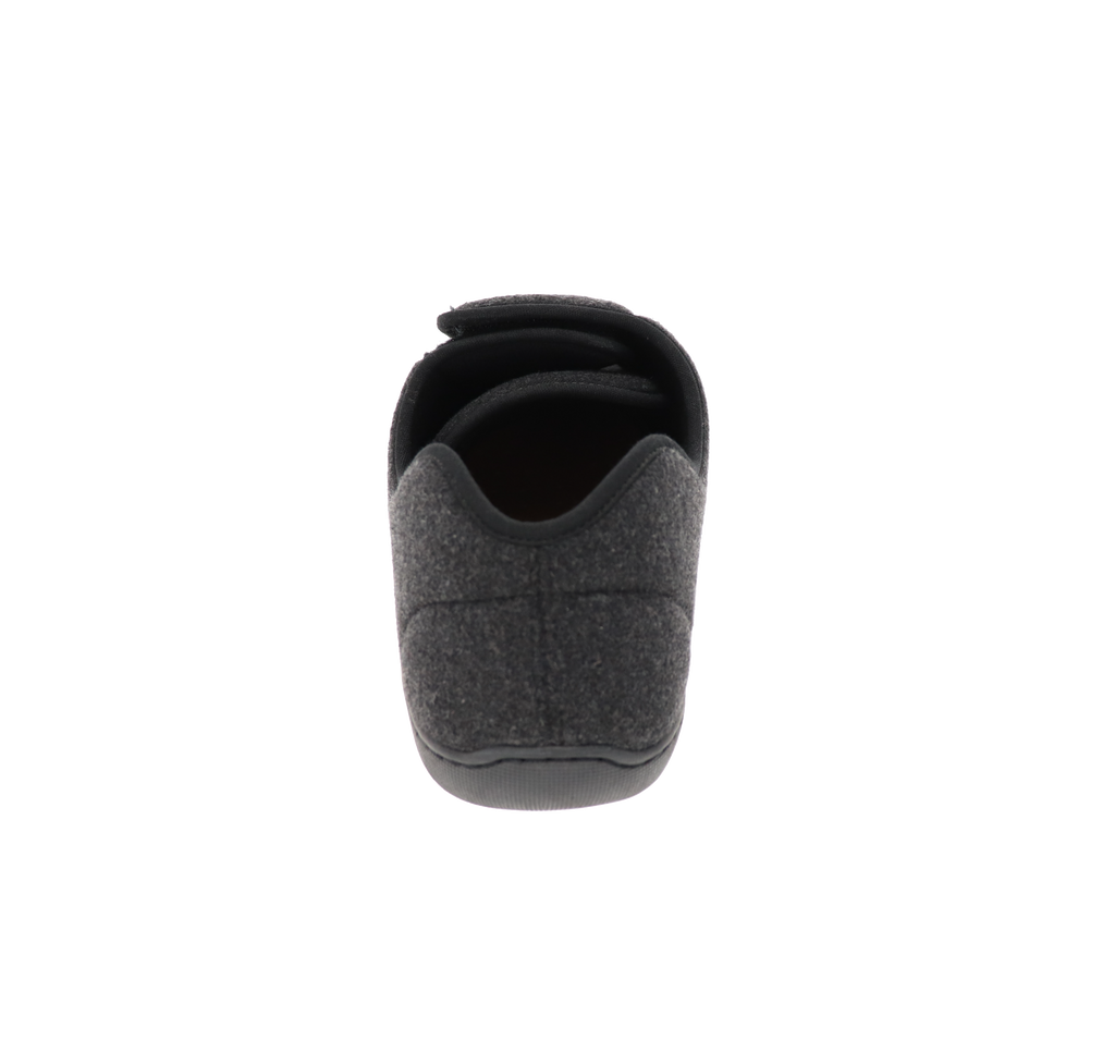 Doctor 2 Black Wool Slipper