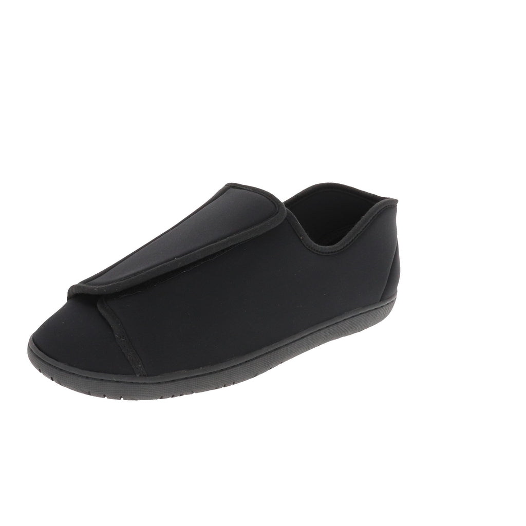 Doctor 2 Black Neoprene-Men's Specialty-Foamtreads-7-Extra Depth-Foamtreads Medical Slipper Slippers Men Men's Wool Blend 3 way adjustable hook and loop velcro straps strap nylex lining removable leather insole with memory foam extra depth doc swollen feet popular top seller diabetic