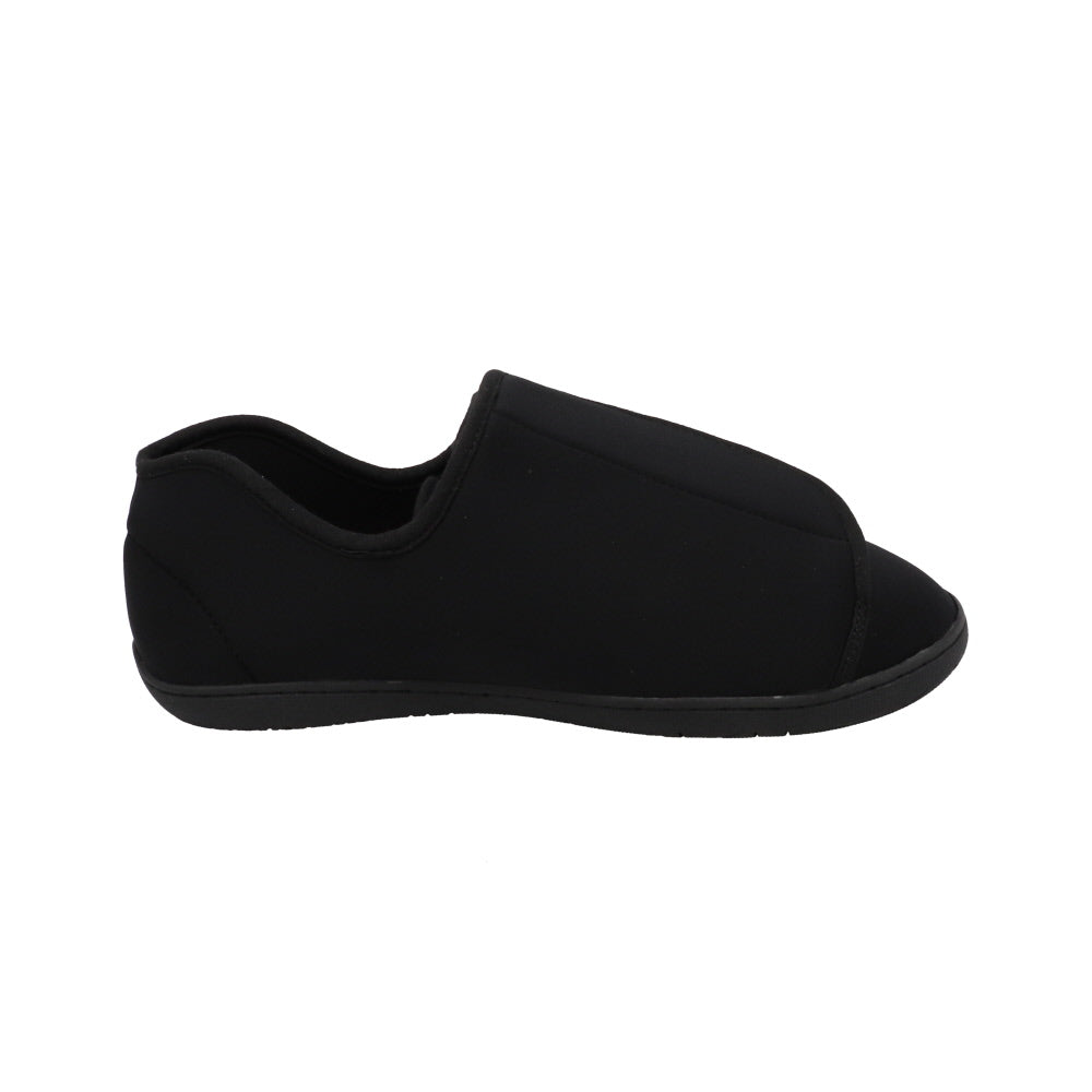 Doctor 2 Black Neoprene-Men's Specialty-Foamtreads-Foamtreads Medical Slipper Slippers Men Men's Wool Blend 3 way adjustable hook and loop velcro straps strap nylex lining removable leather insole with memory foam extra depth doc swollen feet popular top seller diabetic