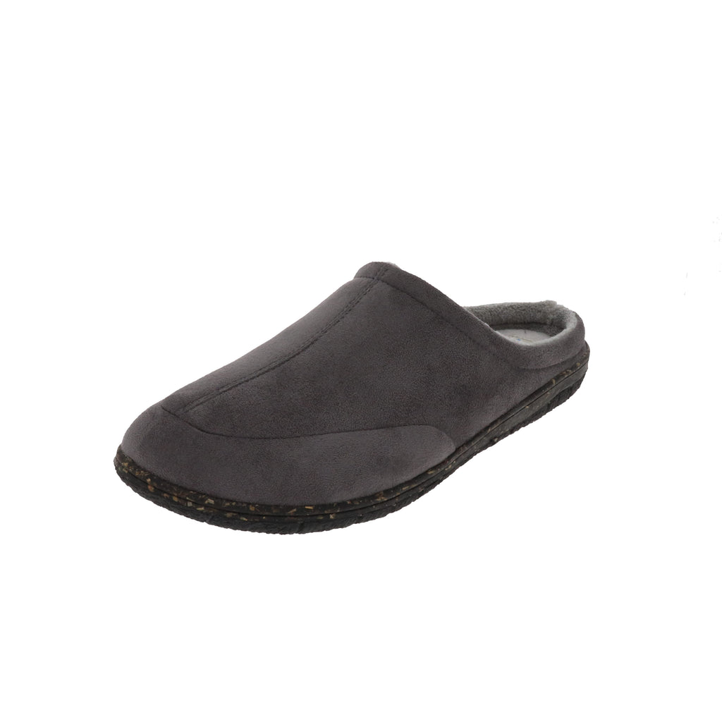 George Grey-Slip On-Foamtreads-Grey-7-Foamtreads Slippers Men Men's Slipper Micro Suede Soft Terry lining centre stitch removable memory foam insole medium popular top seller slip on open back