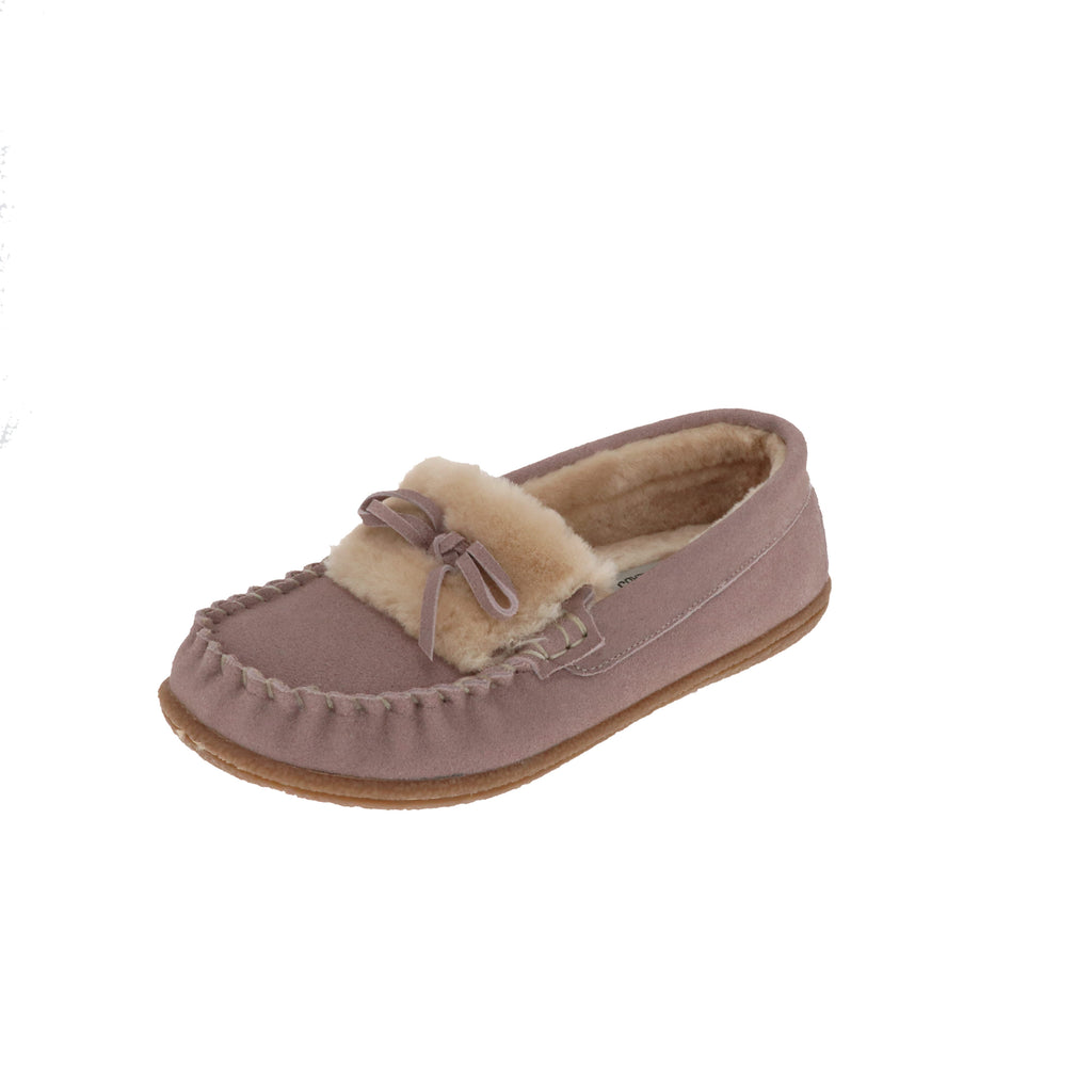 Janis Pink-Closed Back-Foamtreads-Pink-6-Foamtreads canada ladies women women's slipper slippers shoe shoes closed back genuine leather suede contrast plush cuff memory foam medium indoor outdoor cozy moccasin comfy stylish