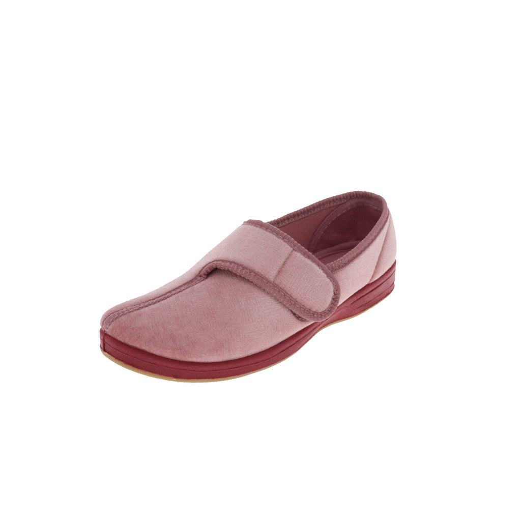 Jewel Dusty Rose-Women's Heritage-Foamtreads-Dusty Rose-Medium-5-Foamtreads Canada Slipper Slippers Ladies Women Women's Embossed FT Velour Nylex lining insole Polyester blend Medium Wide Classic adjustable hook and loop strap velcro strap shoe