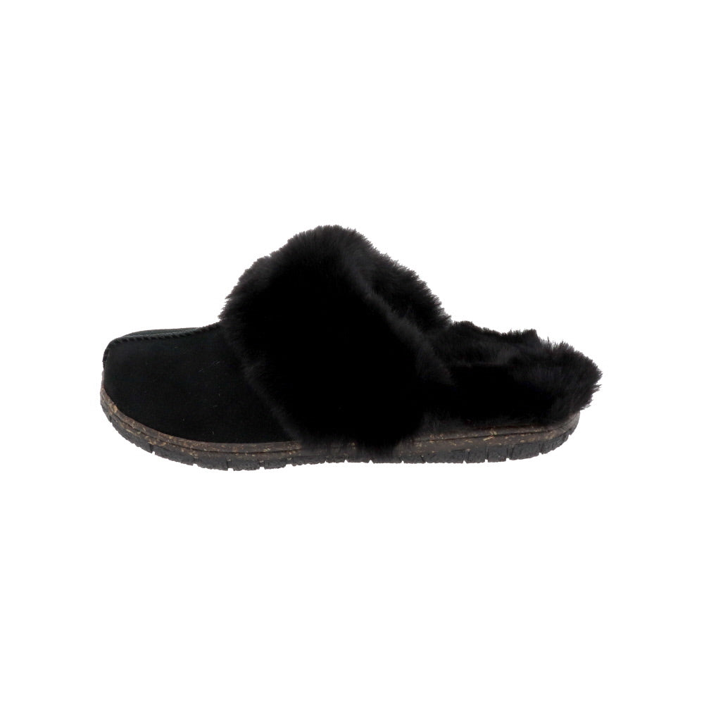 Katrina Black-Slip On-Foamtreads-Foamtreads canada ladies women women's slipper slippers shoe shoes footwear genuine leather suede soft plush lining insole memory foam medium soft cozy comfort lifestyle fashion
