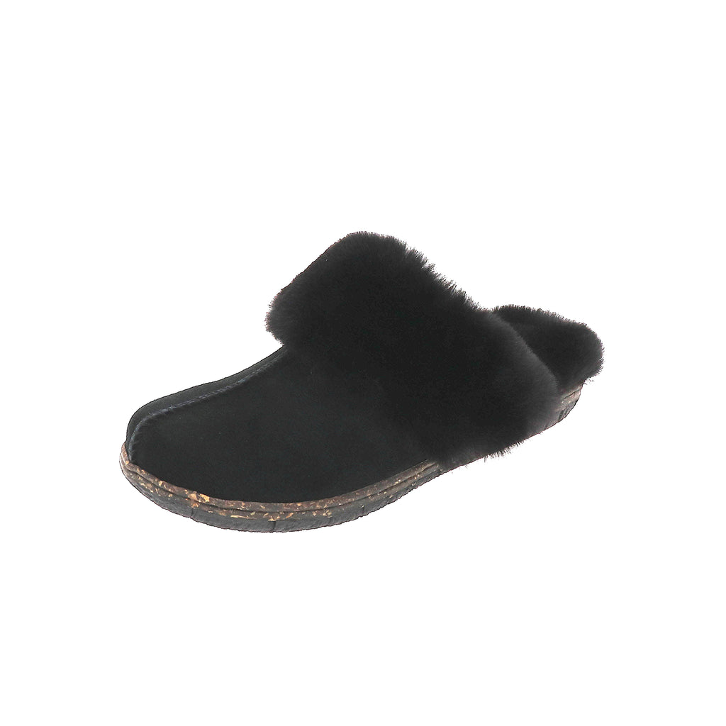 Katrina Black-Slip On-Foamtreads-Black-6-Foamtreads canada ladies women women's slipper slippers shoe shoes footwear genuine leather suede soft plush lining insole memory foam medium soft cozy comfort lifestyle fashion
