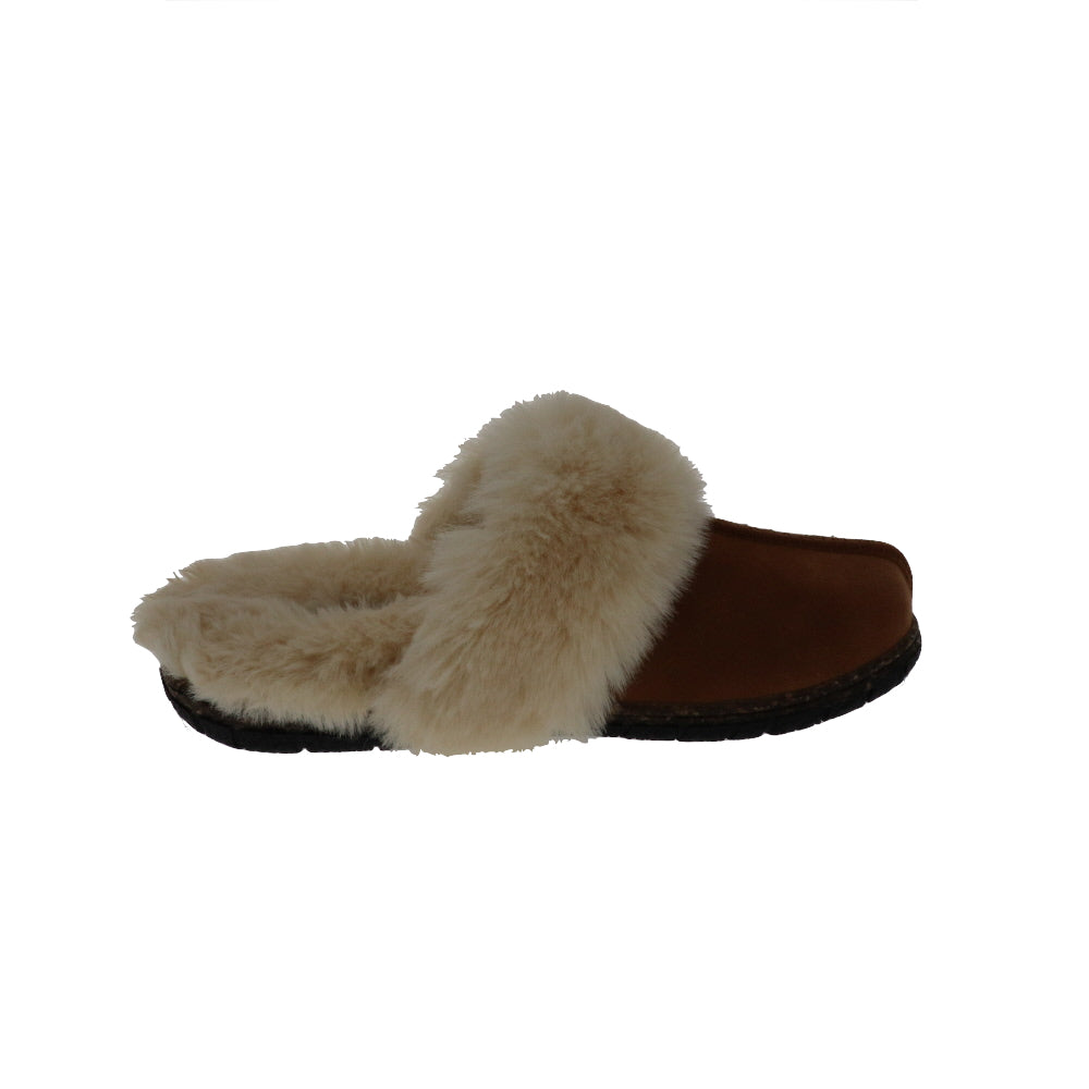 Katrina Chestnut-Slip On-Foamtreads-Foamtreads canada ladies women women's slipper slippers shoe shoes footwear genuine leather suede soft plush lining insole memory foam medium soft cozy comfort lifestyle fashion
