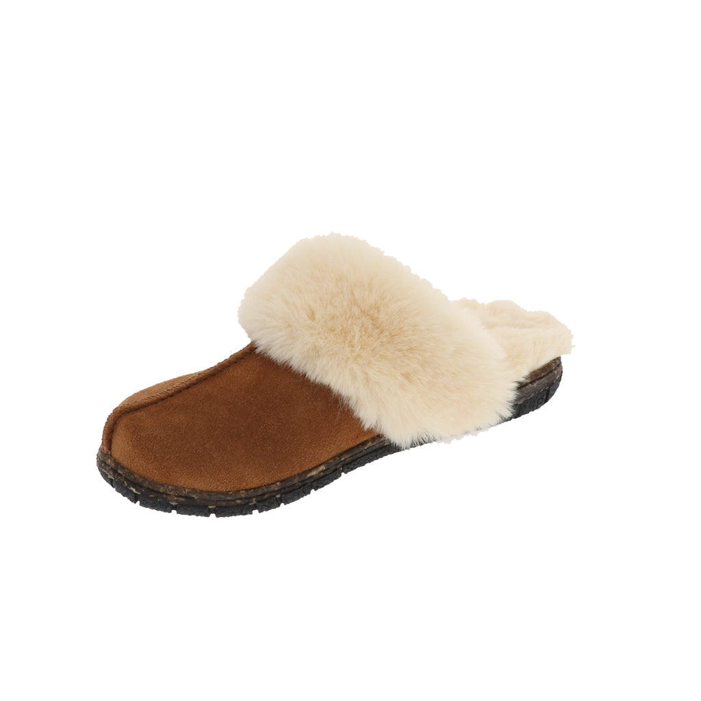 Katrina Chestnut-Slip On-Foamtreads-Chestnut-6-Foamtreads canada ladies women women's slipper slippers shoe shoes footwear genuine leather suede soft plush lining insole memory foam medium soft cozy comfort lifestyle fashion