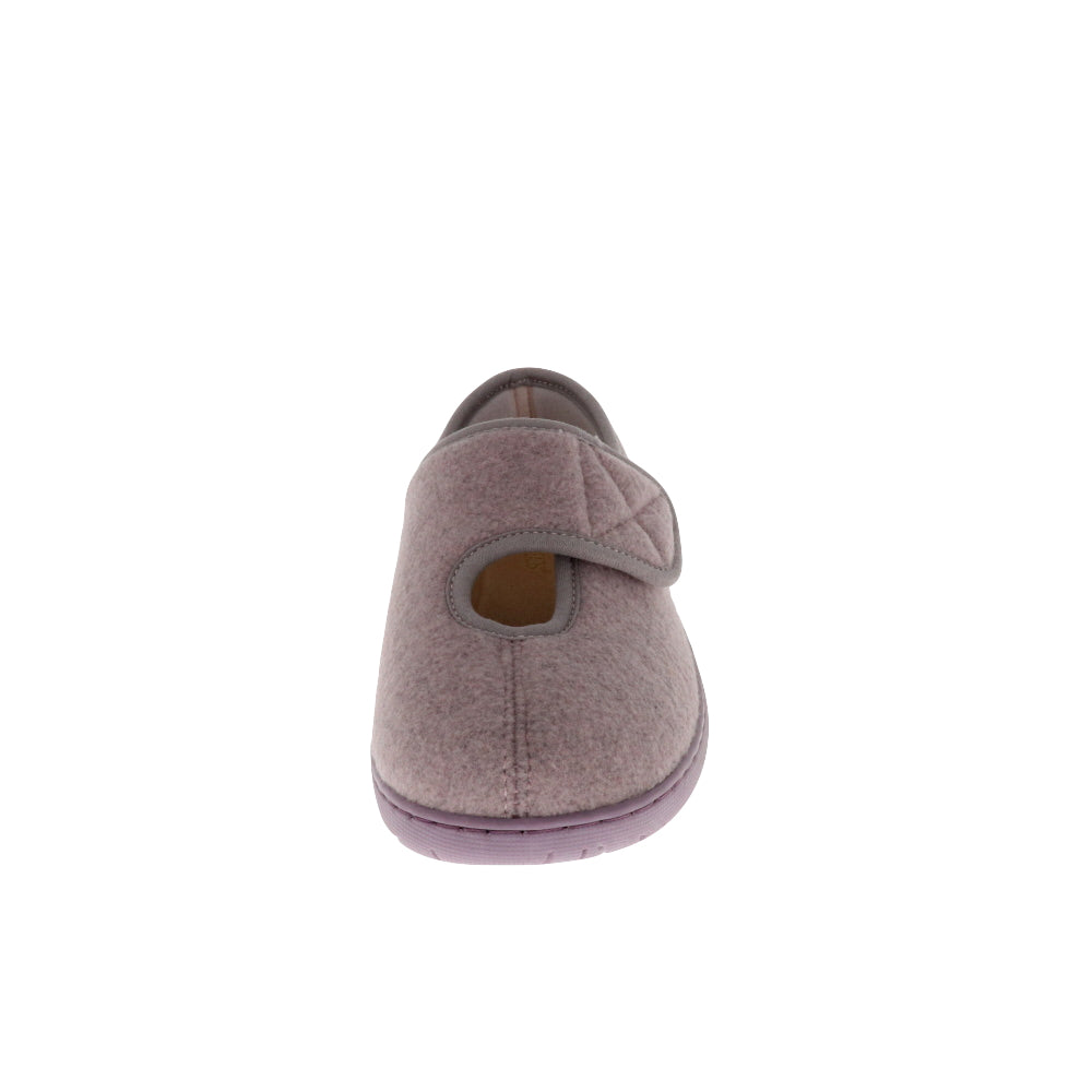 Kendale L2 Lilac-Women's Specialty-Foamtreads-Foamtreads Medical Canada Slipper Slippers Ladies women women's medical wool blend adjustable hook and loop strap velcro strap nylex lining removable leather insole with memory foam extra depth swollen feet tired feet custom fit comfort diabetic shoe