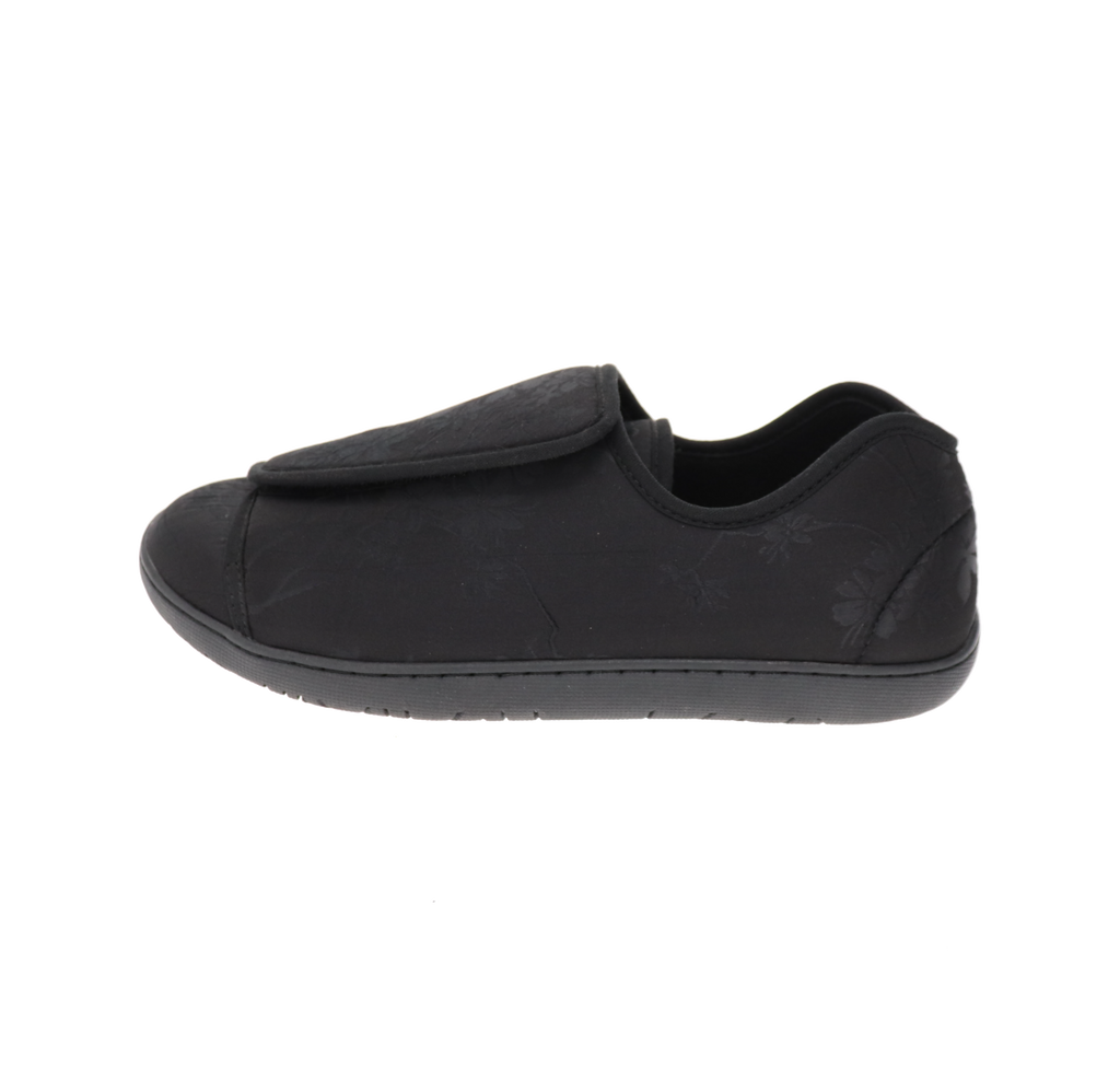 Nurse 2 Black Satin Slipper