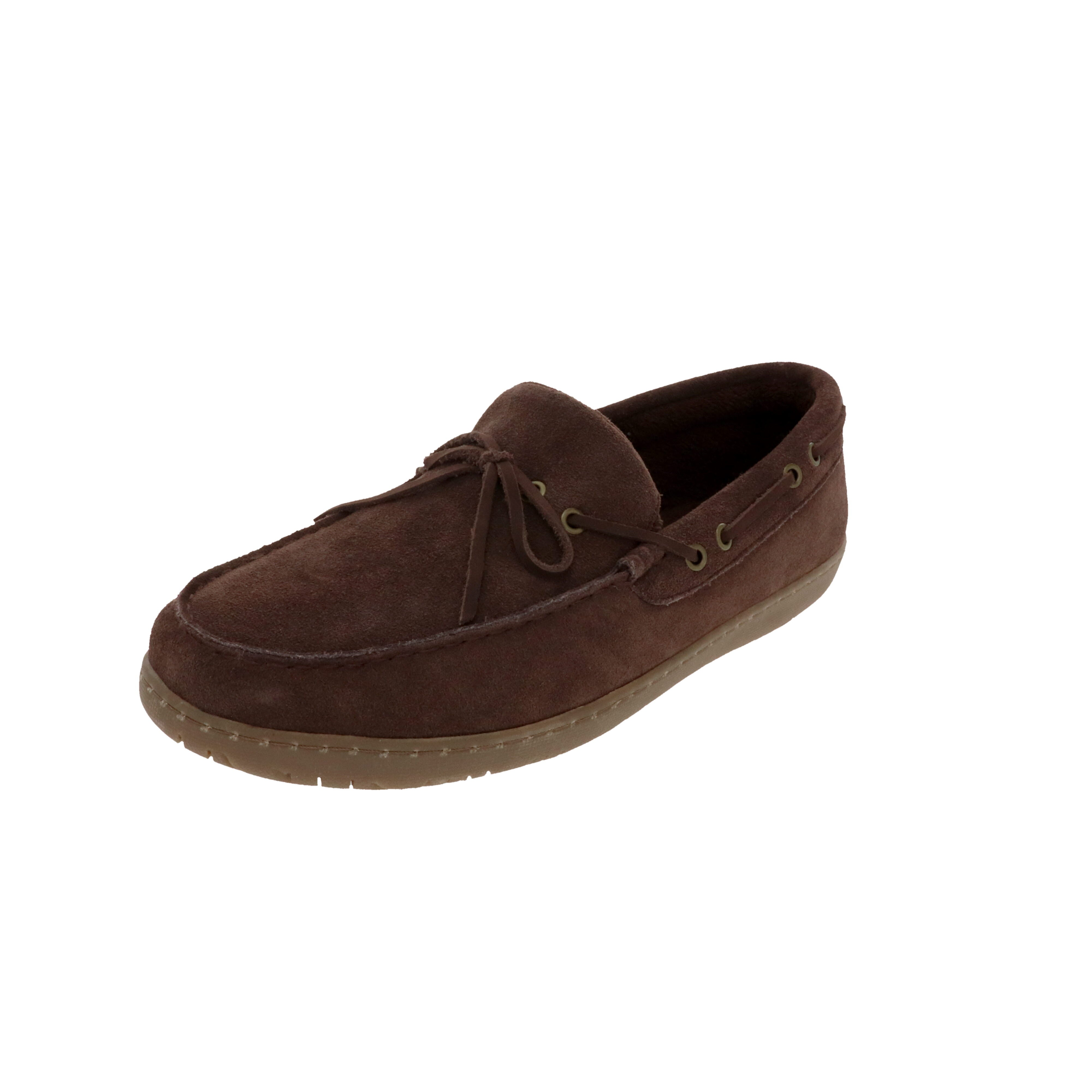 Noah Chocolate-Closed Back-Foamtreads-Chocolate-7-Foamtreads Slipper Men Men's Slippers Genuine Suede Soft Terry lining leather laces light weight lightweight memory foam insole medium cottage comfort relax