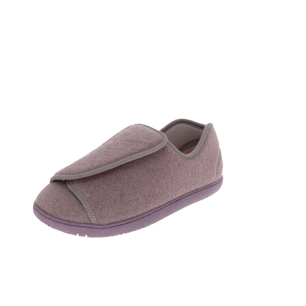 Nurse 2 Lilac Wool-Women's Specialty-Foamtreads-Lilac Wool Blend-Extra Depth-6-Foamtreads Medical Canada slipper slippers shoe shoes ladies women women's print wool blend 3 way adjustable hook and loop strap velcro strap nylex lining removable leather insole with memory foam extra depth custom fit comfort diabetic