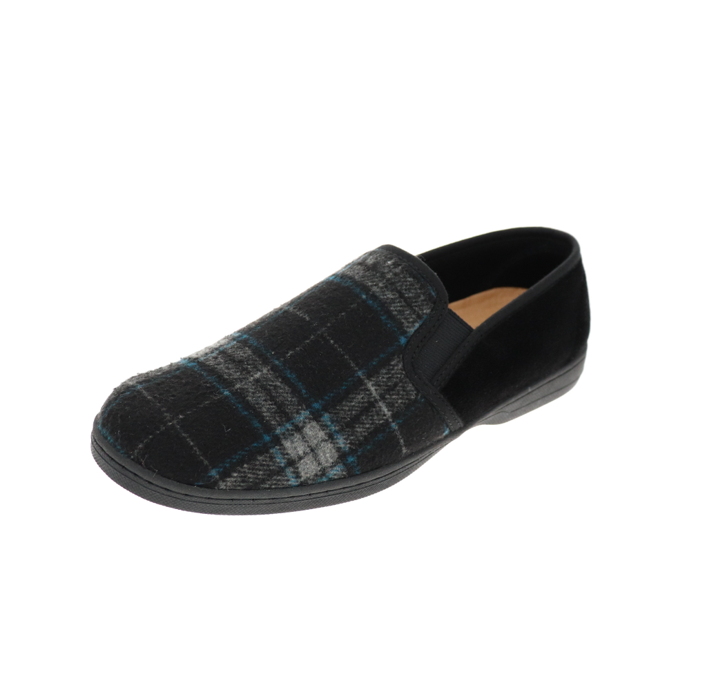 Reuben 2 Black Multi Slipper
