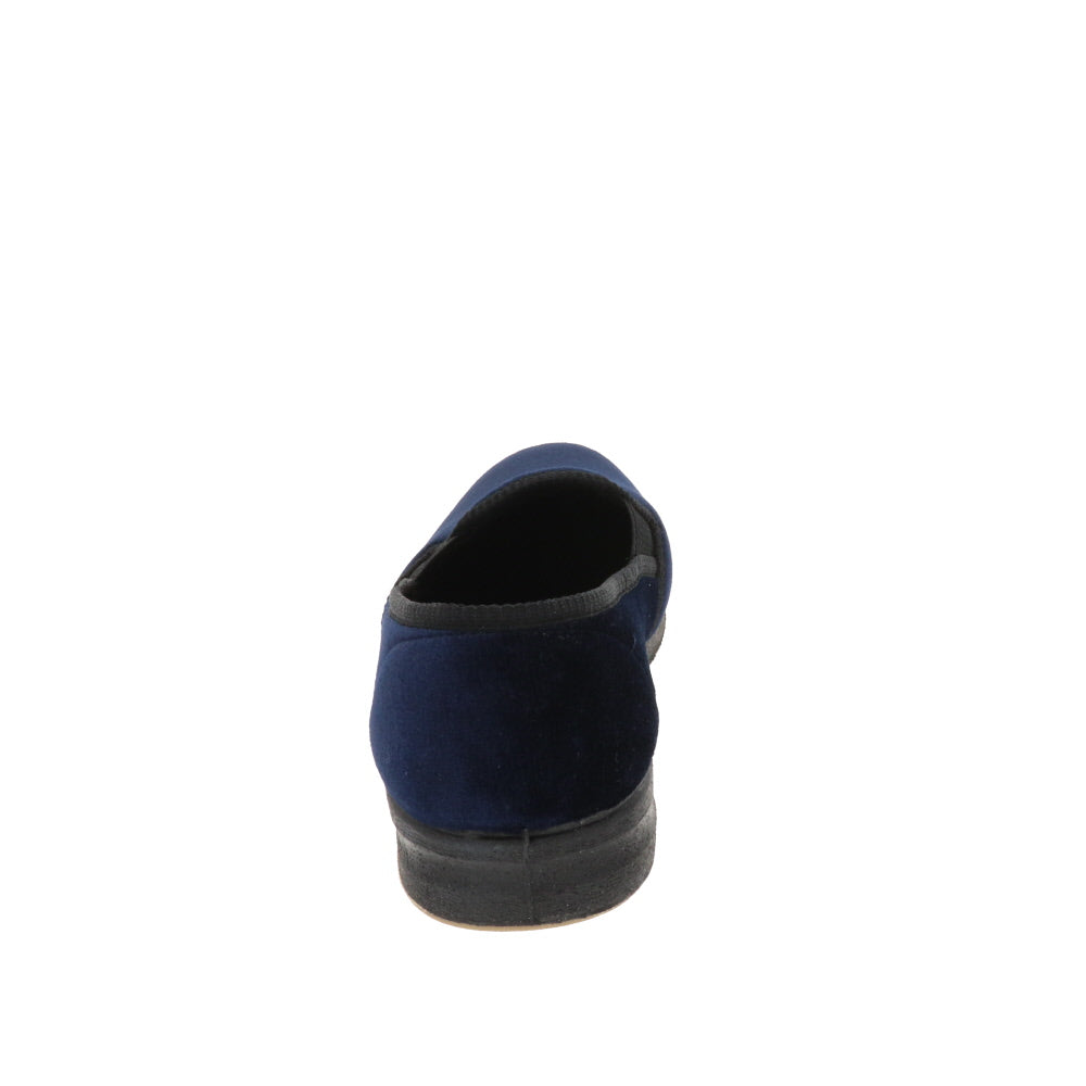 Regal Navy-Closed Back-Foamtreads-Foamtreads Men Slipper Men's Velour FT GroGrain Polyester Blend upper and insole lining Medium Width King Top Seller Twin gore
