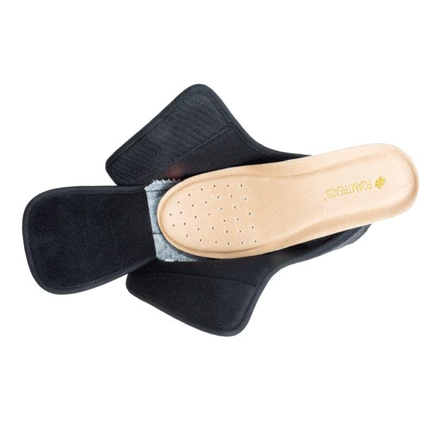 Doctor 2 Black Wool Slipper-Foamtreads