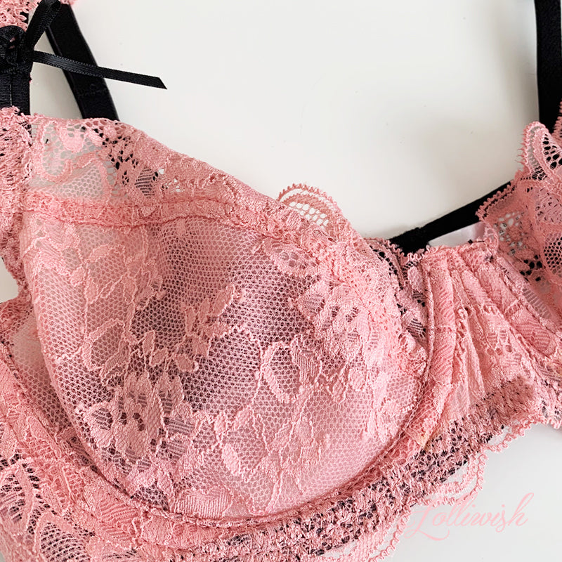 Beautiful Lady Lace Bra Set (Available in 4 colors)