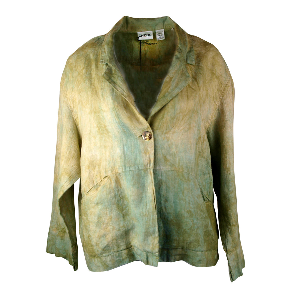 Jacket in soft blues and greens, Chicos