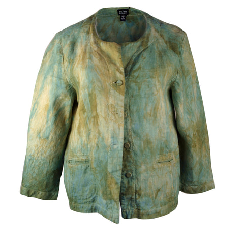 Jacket in soft blues and greens, Eileen Fisher