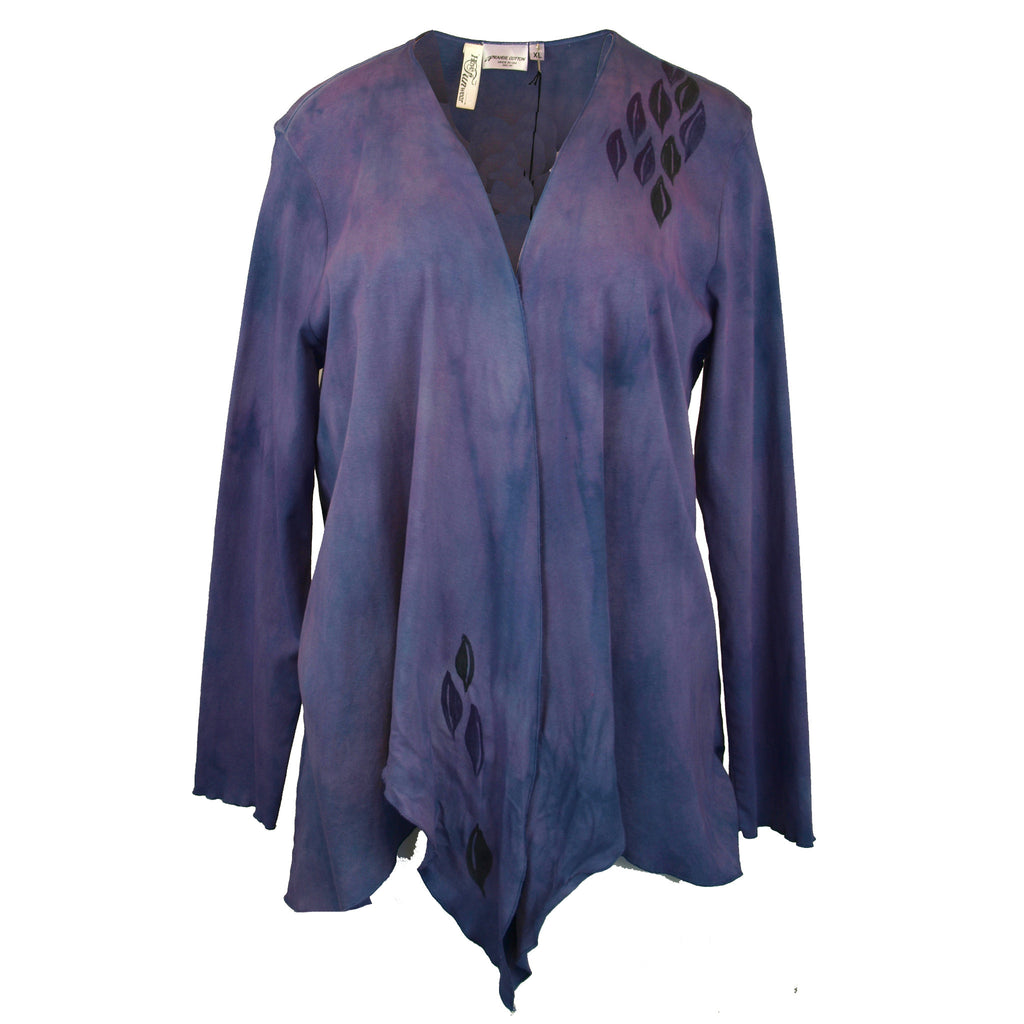 Dyed and painted purple jacket (2)