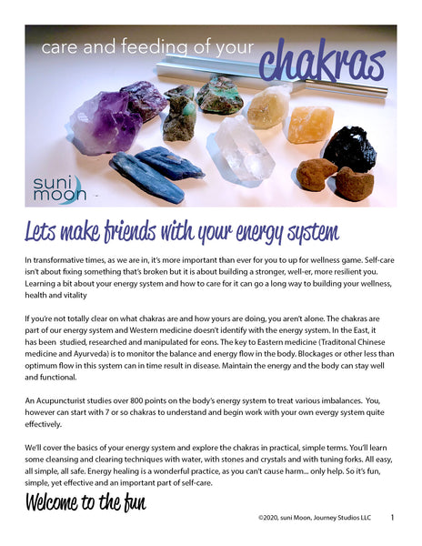 Care and feeding of your chakras- an in-person class