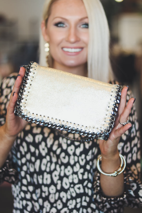 Leather Clutch Crossbody Bag