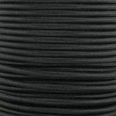 Cable Redondo Textil Negro