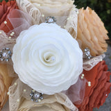 Paper flower bouquet accents