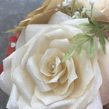Alternative Bridal Bouquet using coral, gold and ivory handmade paper flowers - Colors are customizable