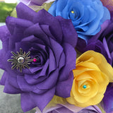 Purple paper rose with sun charm