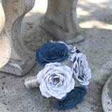 Navy Blue and Grey Music Bouquet