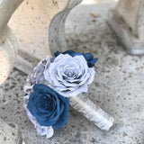 Navy and Gray Musical Bouquet
