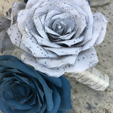 Grey Music Note Flower
