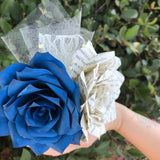 Boutonniere/Pin On Corsage using Paper Book Page Roses - Customizable colors
