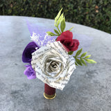 Shot gun shell Boutonniere, Rustic Boutonniere, Paper Boutonnieres, Groom boutonniere