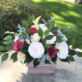 Burgundy and Blush Centerpiece