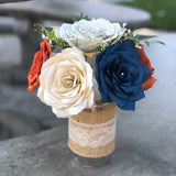 Country Chic Table Centerpiece - Colors are Customizable