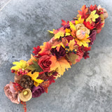 Fall Handcrafted Paper Flower Table Runner