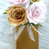 Floral Letter in Blush and gold Paper Flowers - Flower Initial for Nursery