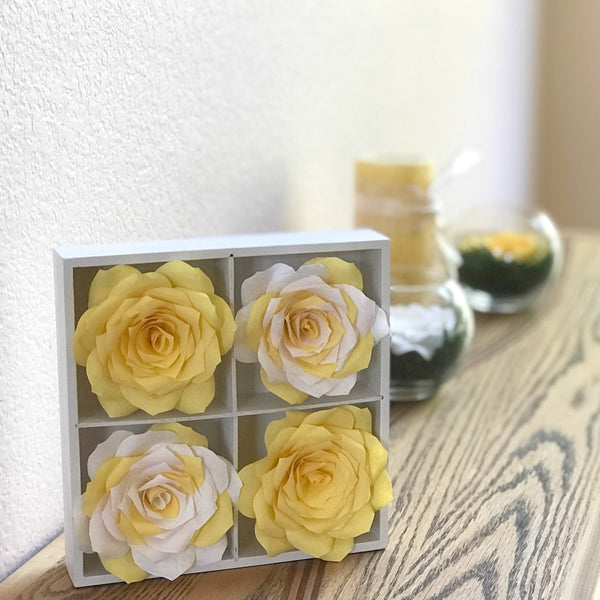 yellow and white paper flower 3d home decor