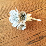 Harry Potter Book Page Boutonniere or Corsage