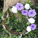 Floral Wreath in Lavender and White Paper Flowers