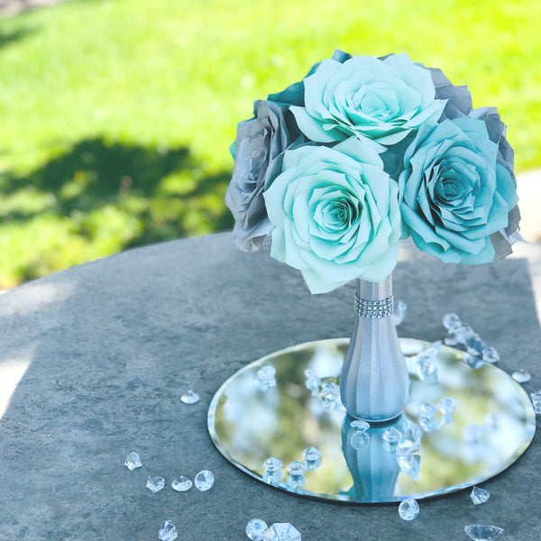 Silver & Mint Green Centerpiece