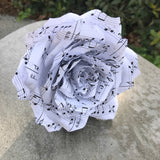 Music Note Paper Rose - Customizable Tip Colors