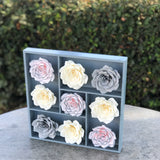 paper rose wall decor grey ivory blush