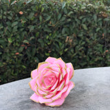 Coffee Filter Paper Rose Painted and Tipped in Glitter  - Colors are Customizable